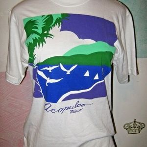FREE WITH ANY BUNDLE Acapulco Mexico White T Shirt